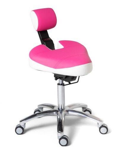 BQE Dynamic ergonomische werkstoel in de kleur Roze Wit