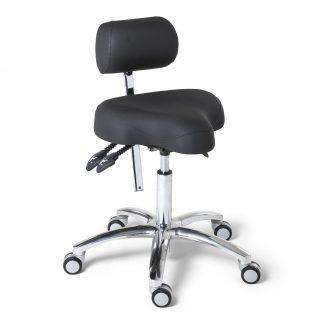 BQE Ergo Solex Ergonomische werkstoel in de kleur zwart